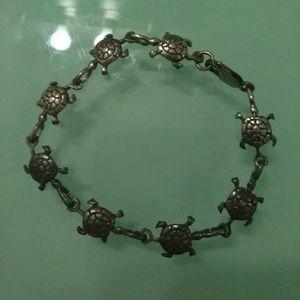 Jewelry - STERLING SILVER TURTLE BRACELET STAMPED . 925